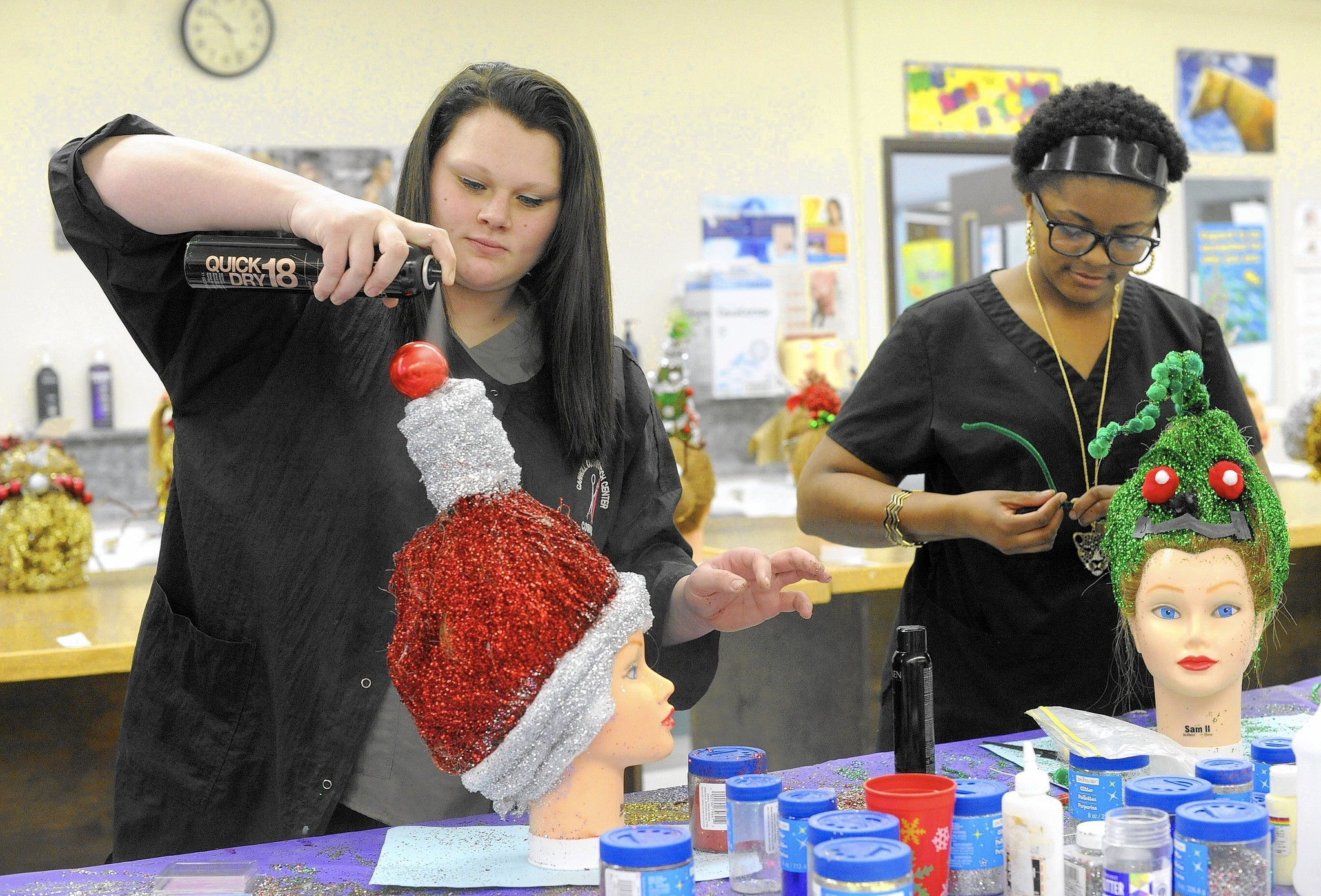 Tech Center cosmetology students craft Whoville,inspired