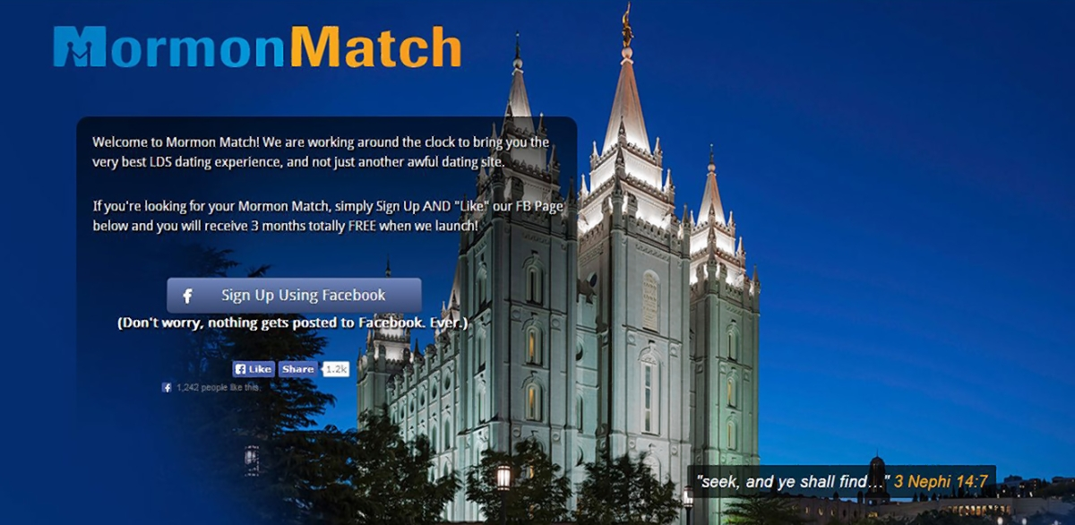 Lds Dating Sites >> New Mormon Dating Site Facing Backlash From Church Ny Daily News