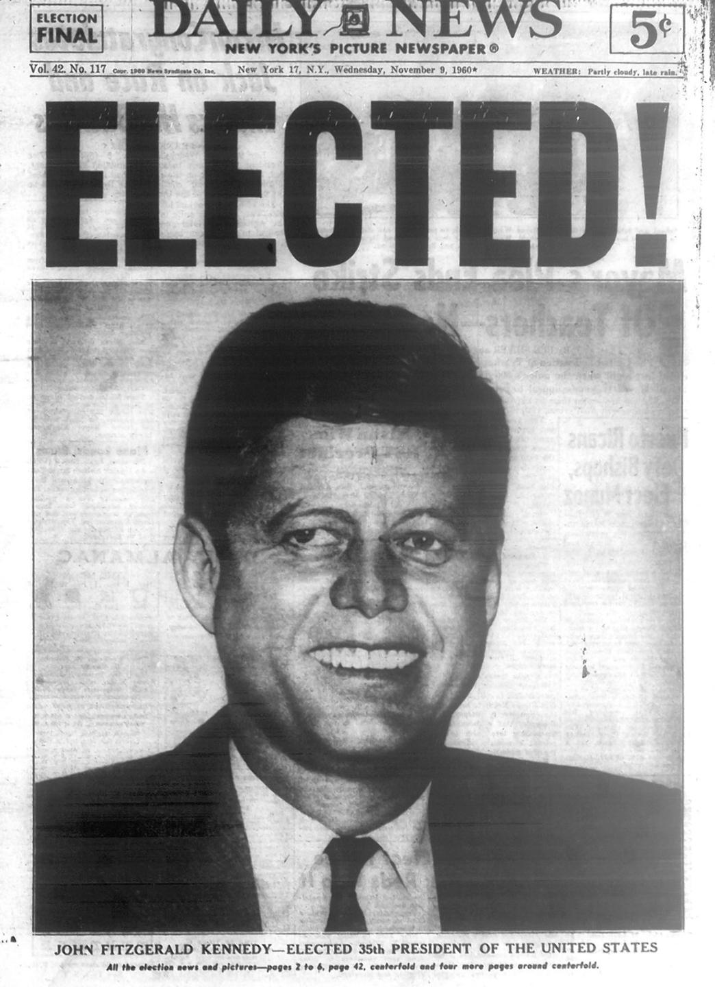Picture of: John F Kennedy Defeats Richard M Nixon For Presidency In 1960 New York Daily News