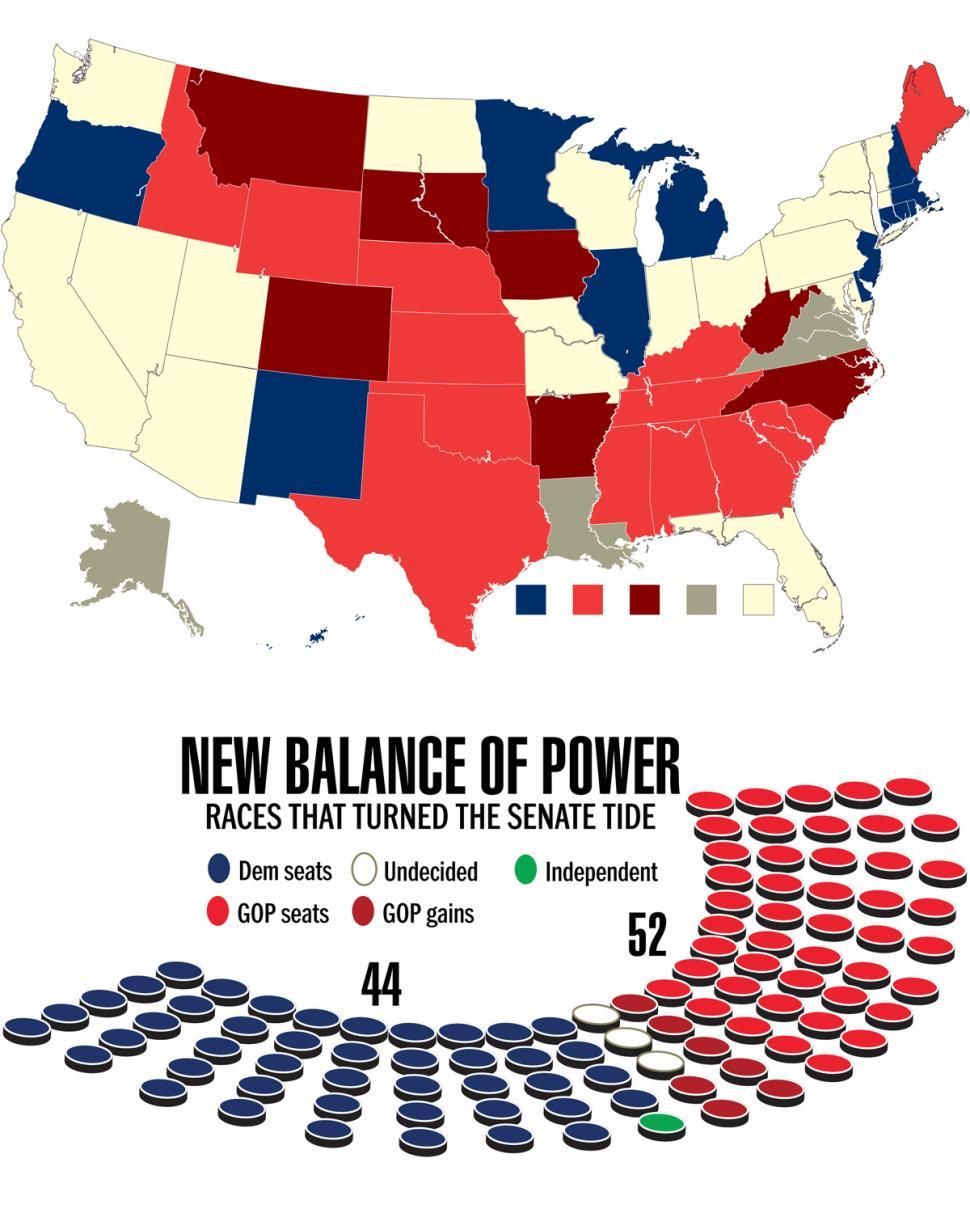 Map of us senators