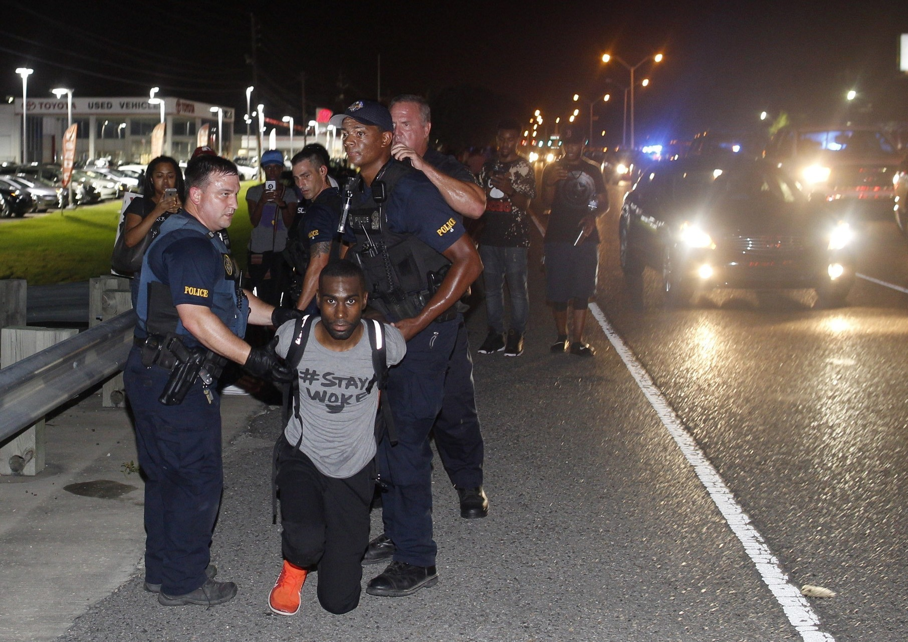 DeRay Mckesson arrested during Baton Rouge protest