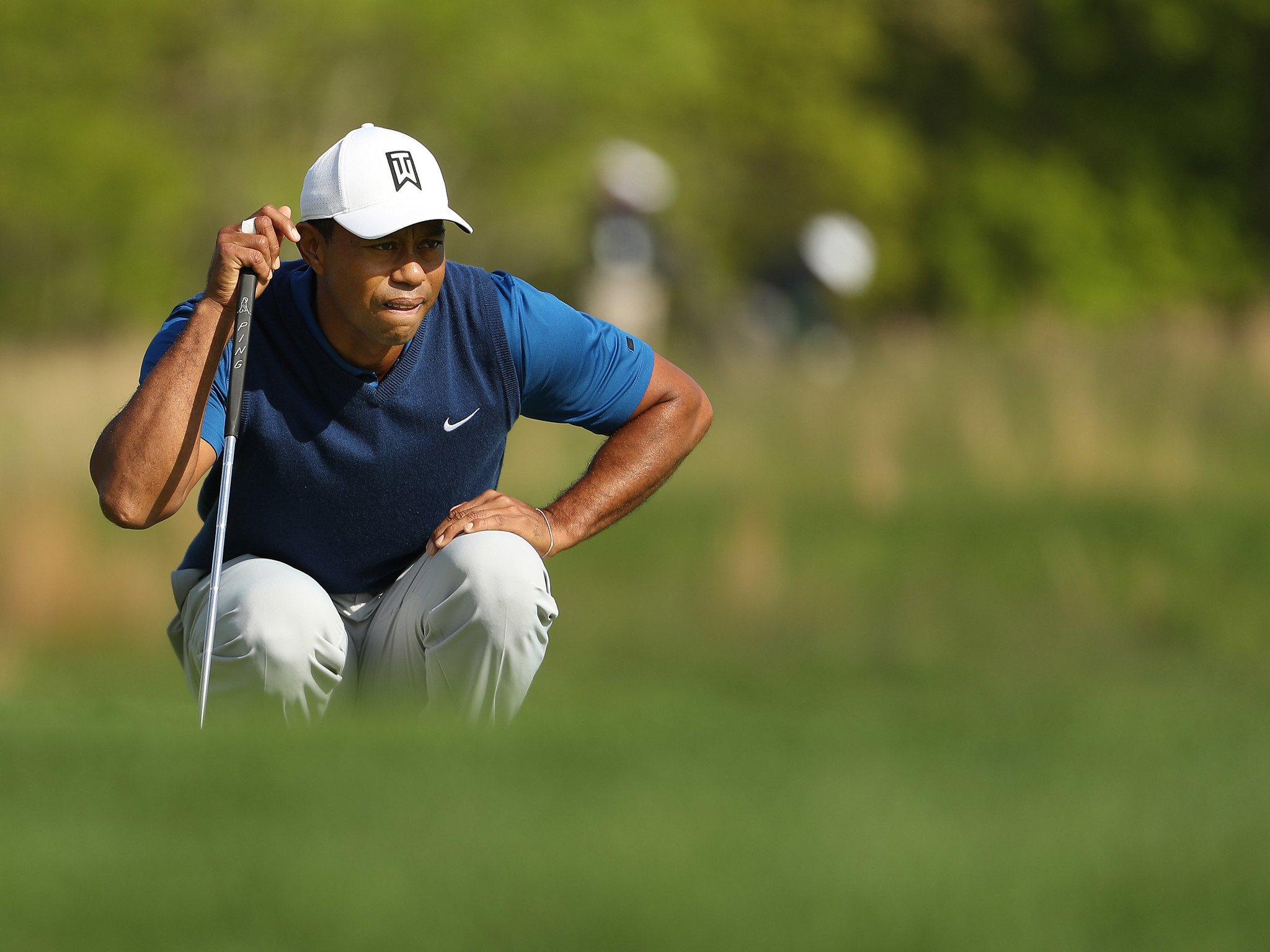 6bf36b43c345 PGA Championship  Tiger Woods  day includes an eagle and two double-bogeys