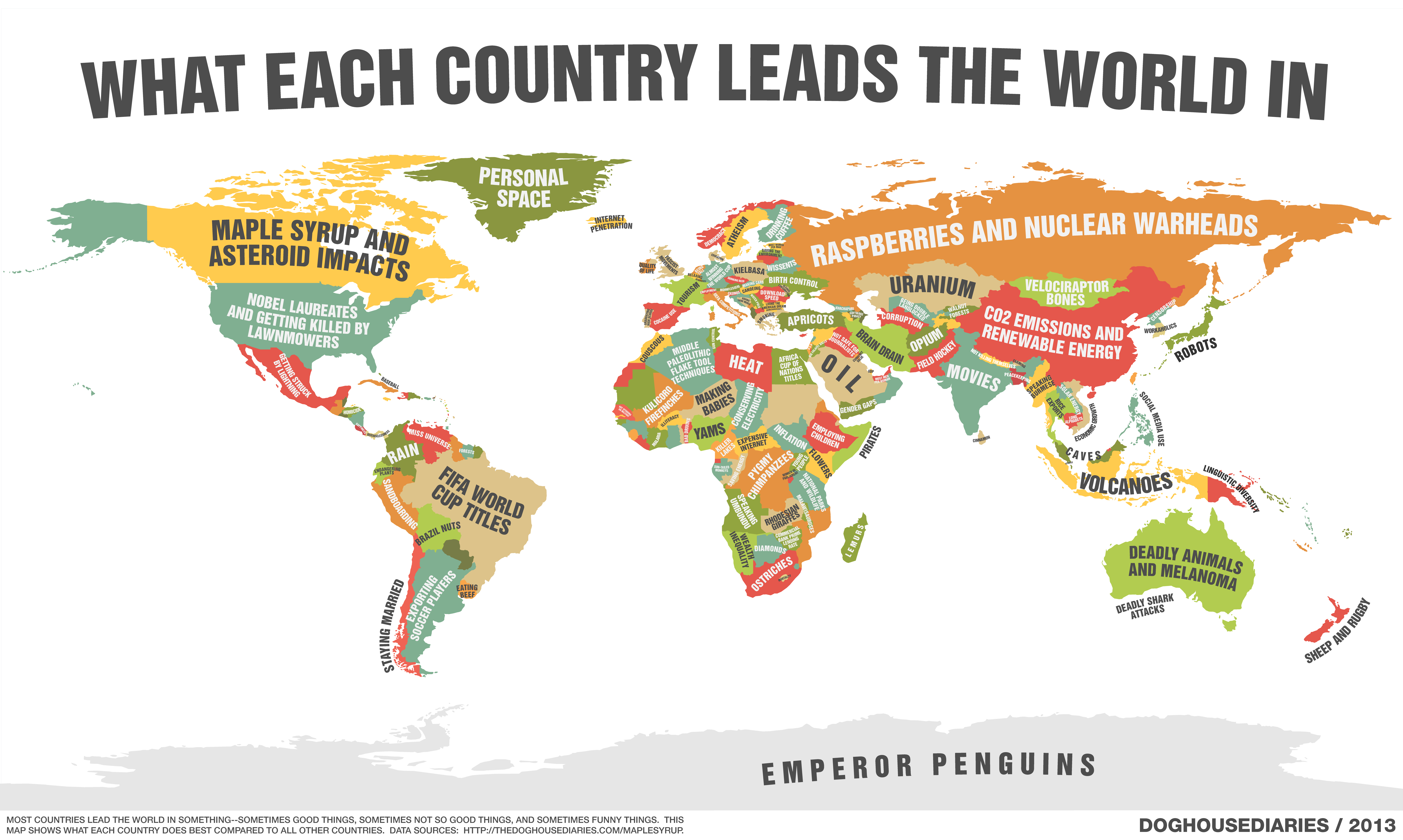 World map shows what each country does best ny daily news gumiabroncs Images