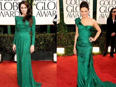 Emerald green dresses sparkle at Golden Globes; Catherine Zeta Jones ...