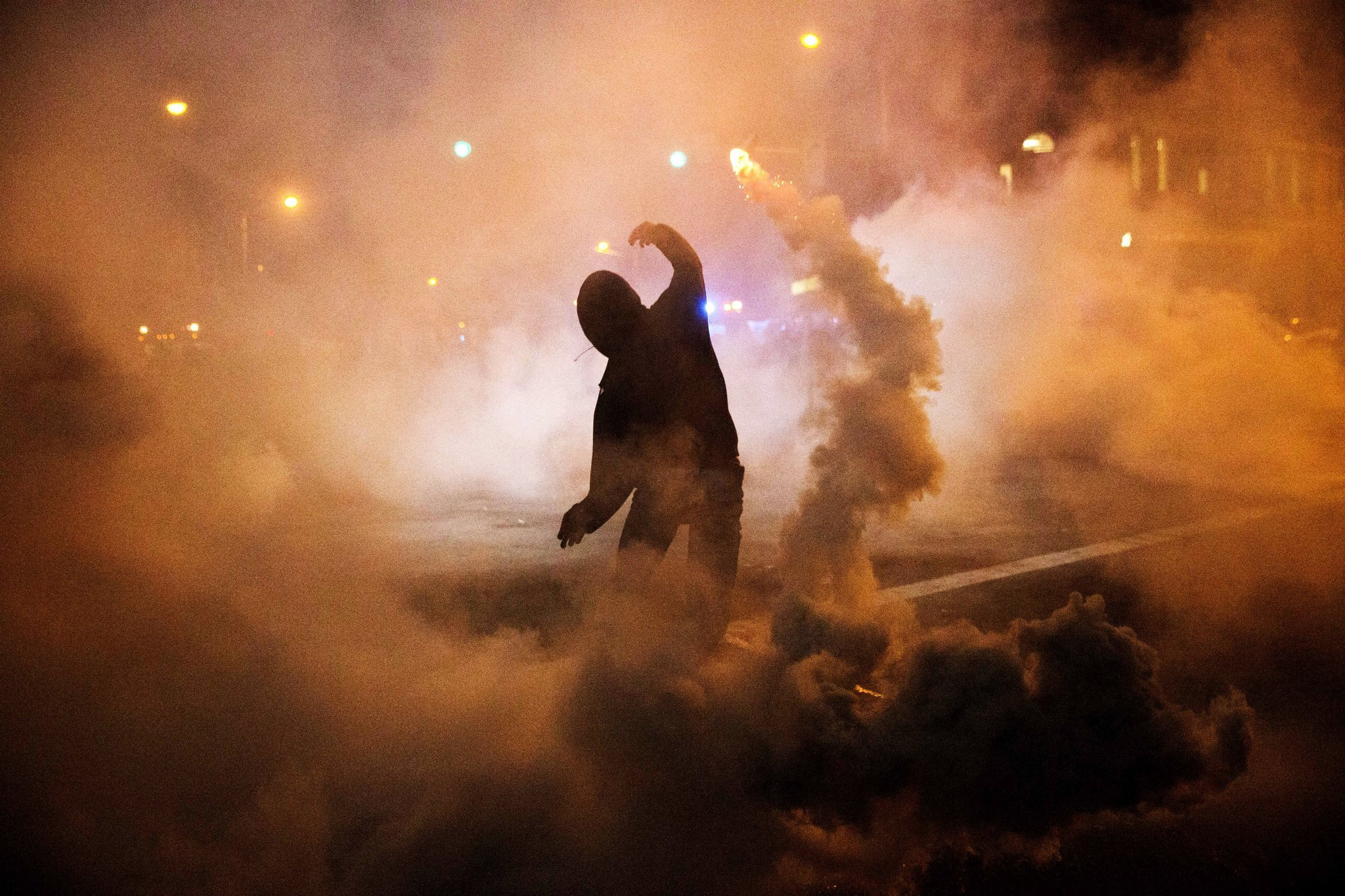 Police use smoke grenades, pepper balls during Baltimore protest ...