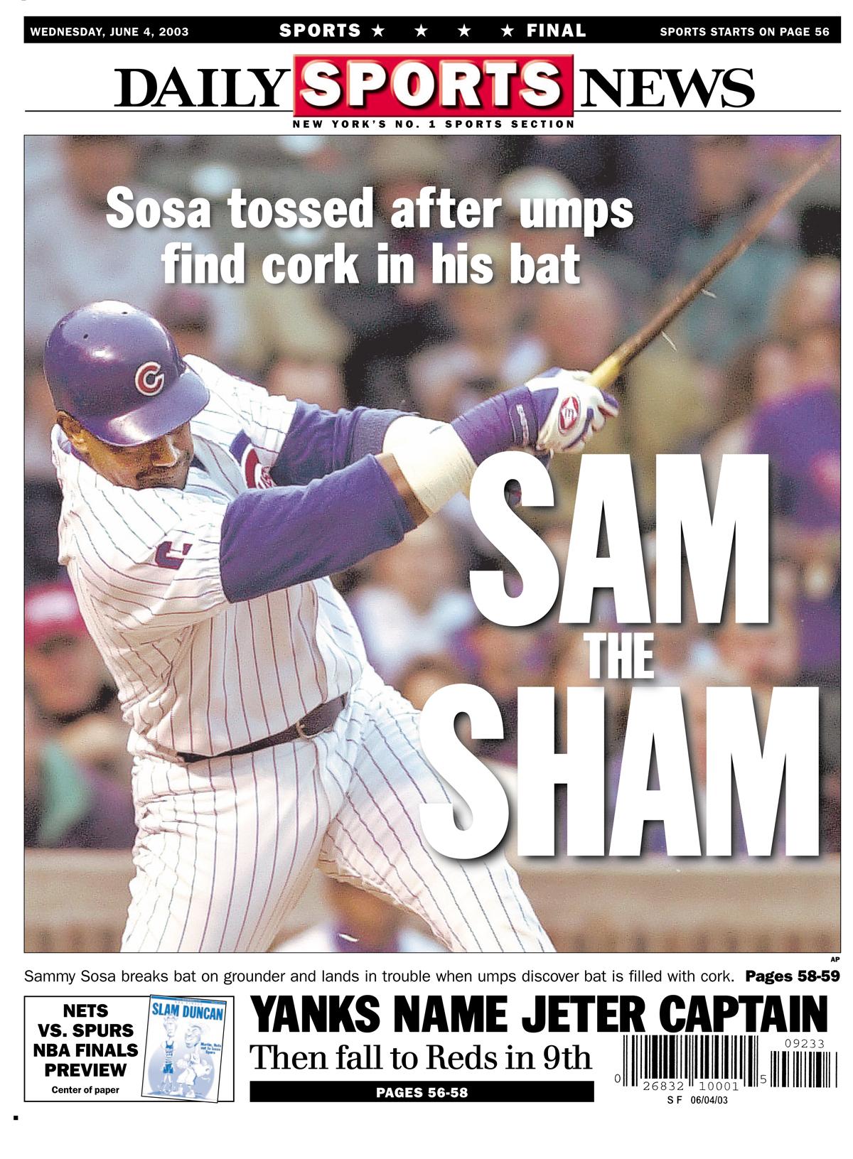 Sammy Sosa caught using corked bat in 2003 game vs  Devil