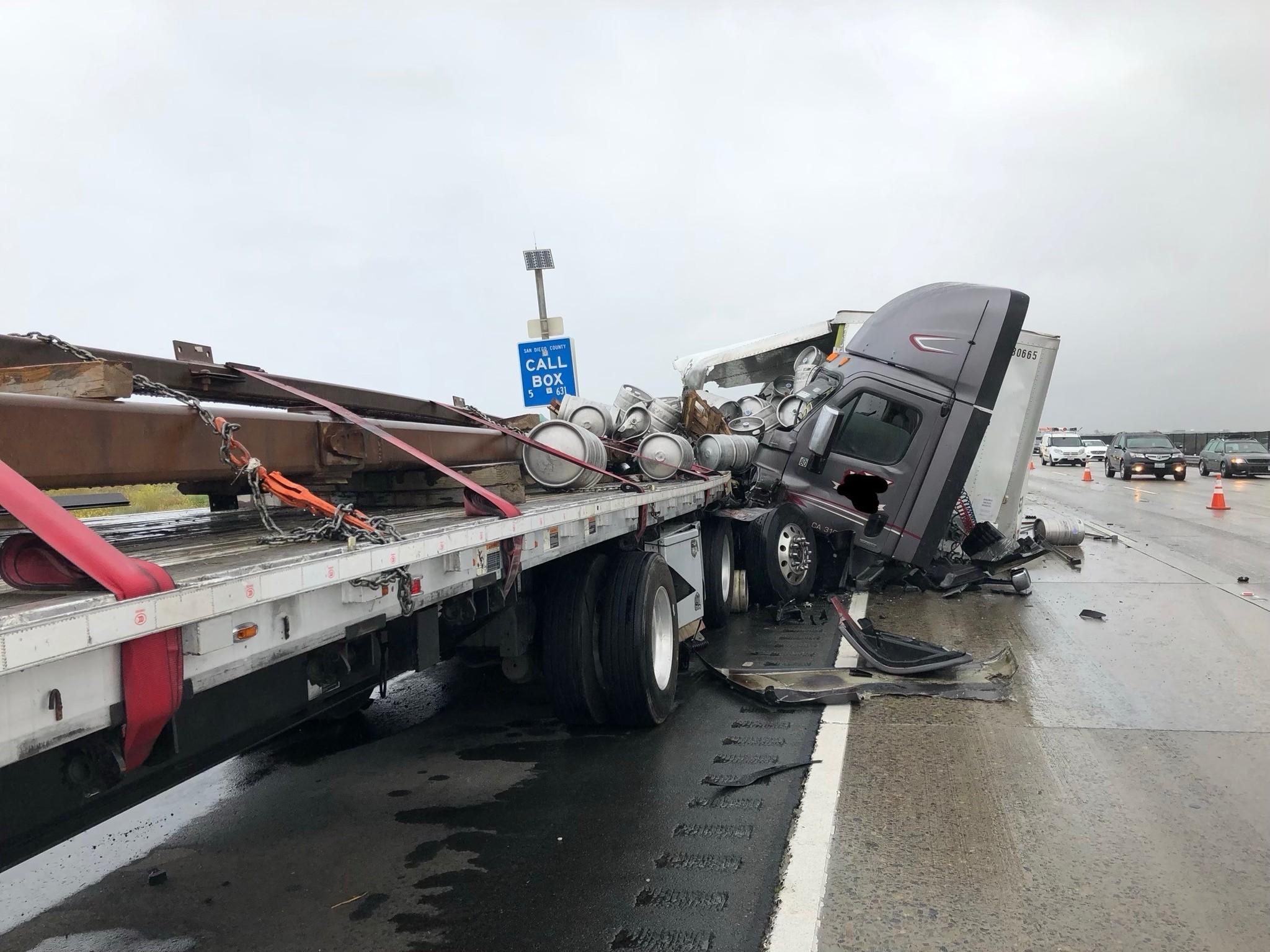 Traffic slow on south I-5 near Orange County line as lanes