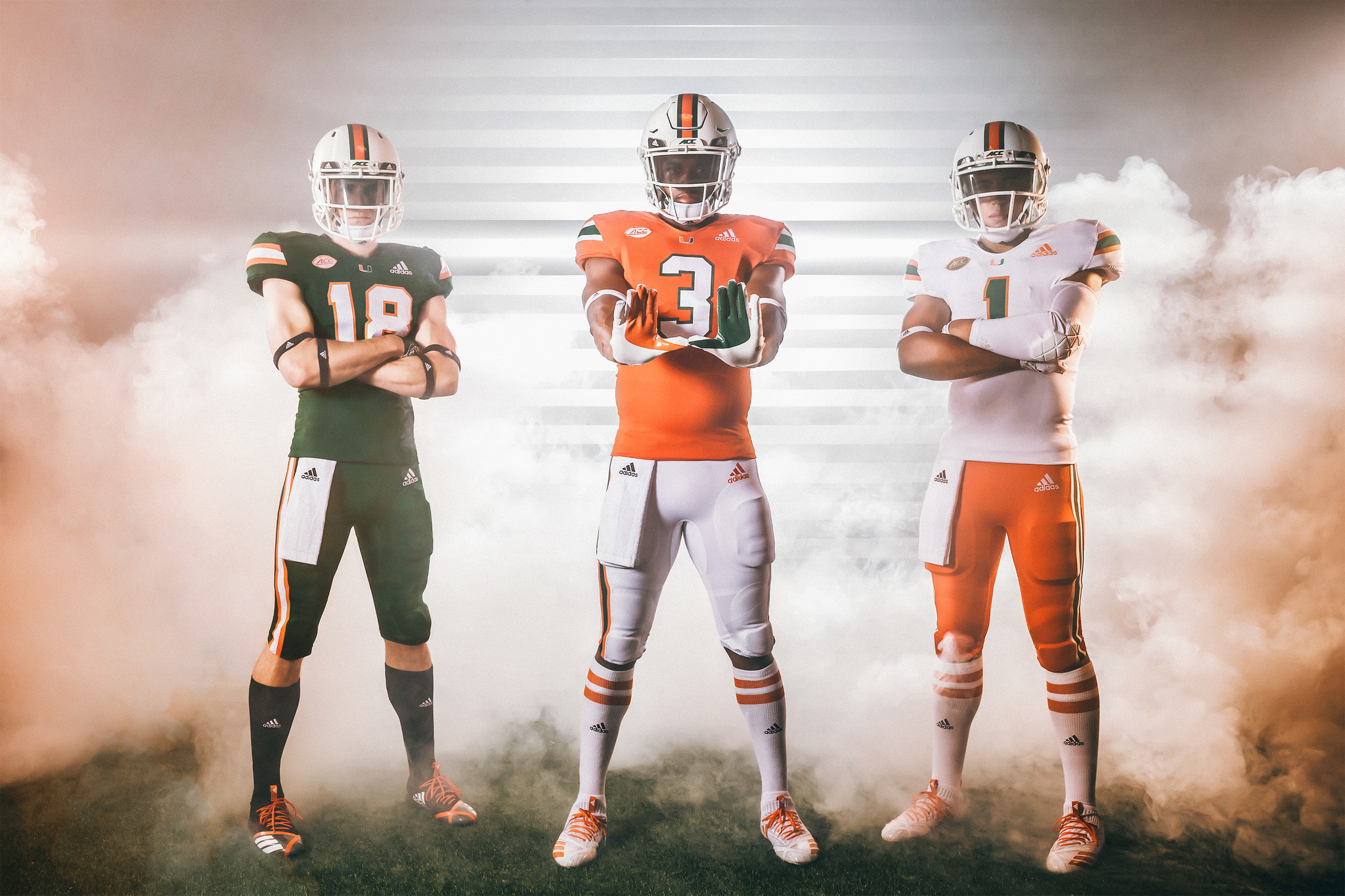 wholesale dealer 56494 7f233 Adidas, Miami reveal modified Hurricanes jerseys ahead of ...