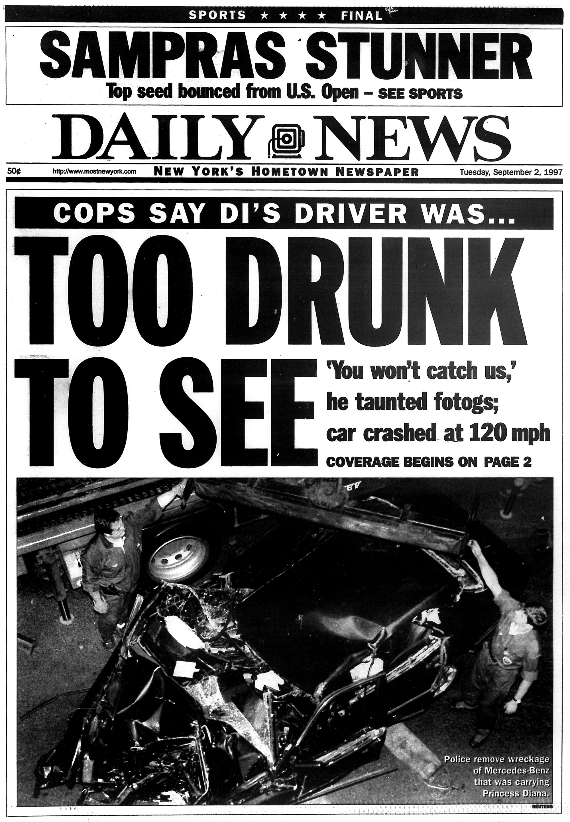 Princess Diana S Driver Was Drunk When She Died In 1997 New York