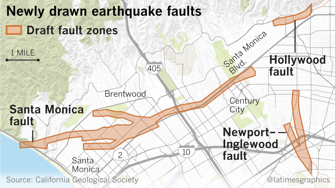 Earthquake fault maps for beverly hills santa monica and other earthquake fault maps for beverly hills santa monica and other westside areas could bring development restrictions gumiabroncs Choice Image