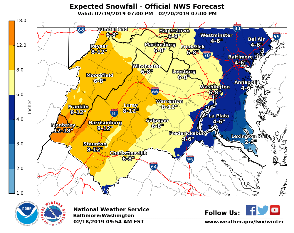 Maryland weather: As much as 5 inches of snow falls in the Baltimore