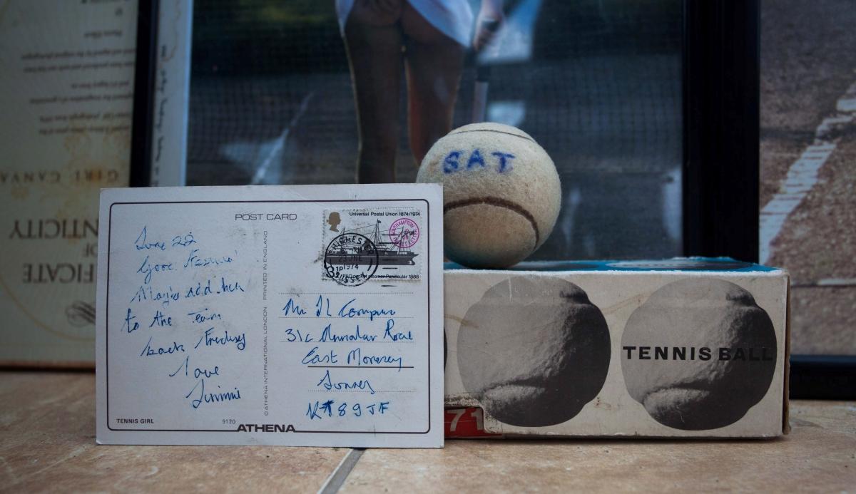 Athena Tennis Girl Postcard