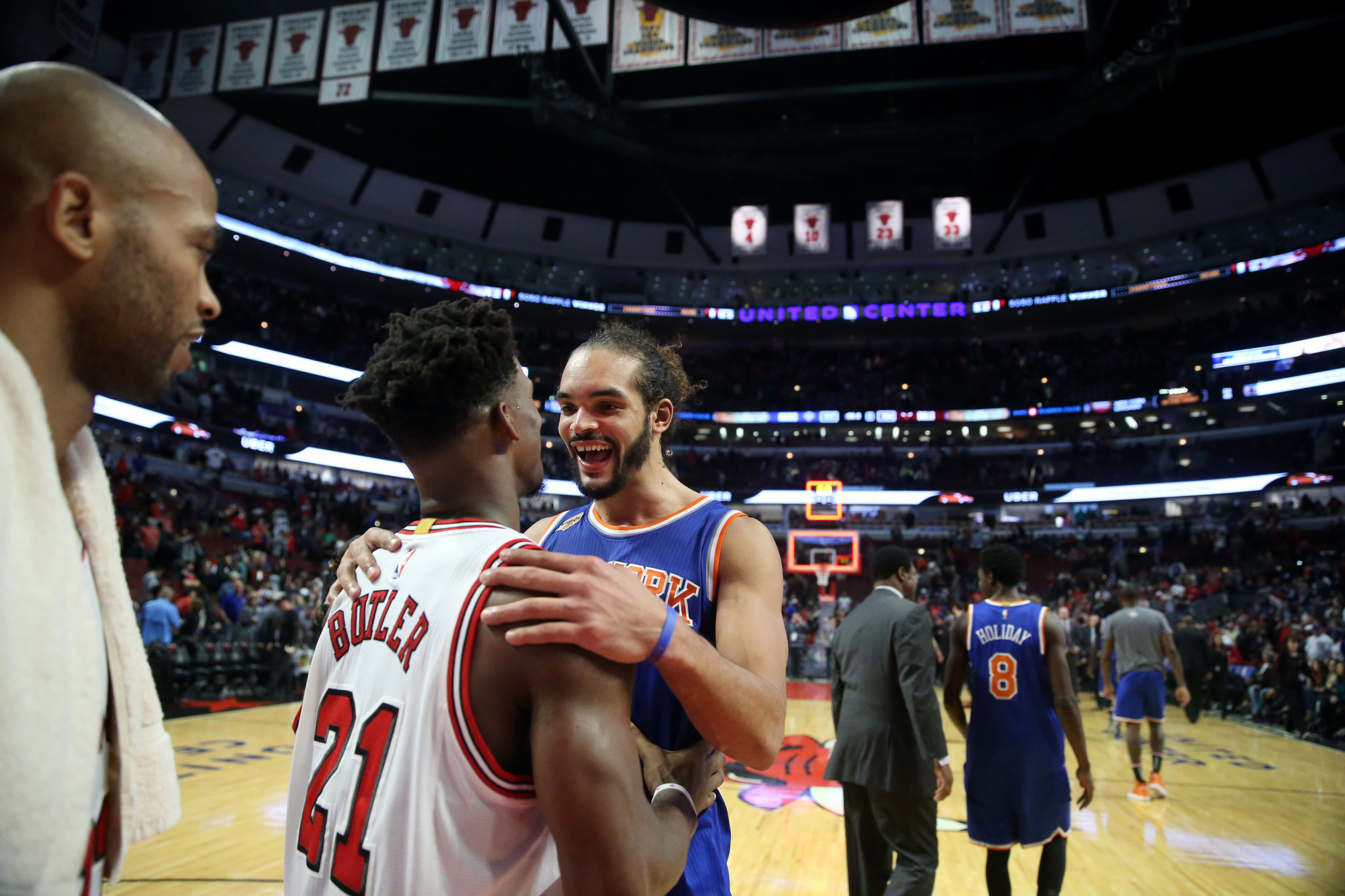 Knicks bash Bulls with lift from Derrick Rose and Joakim Noah