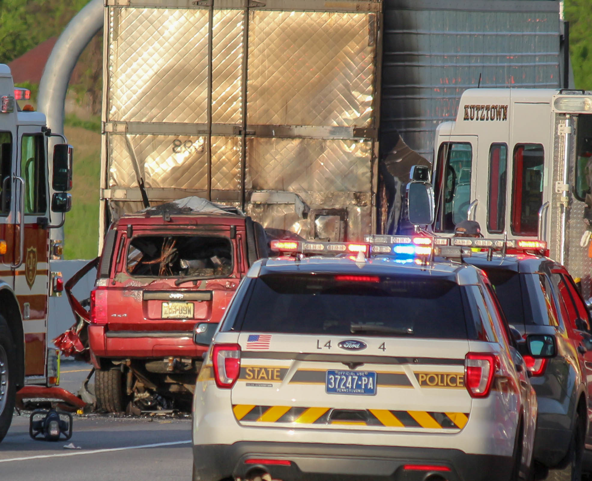 Police say driver killed in fiery I-78 crash was an off-duty